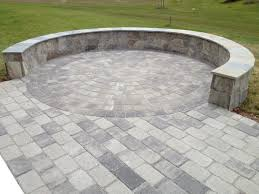Circular Paver Patio A Beautiful Paver Patio With A Seating Border Wall On A