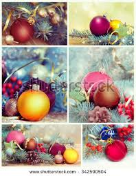 collage different ornaments stock images royalty free