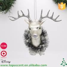 blown glass animated silver deer head christmas ornament buy