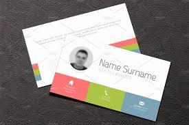 business card template flat design business card templates