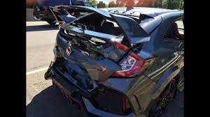 brand new honda civic type r didn u0027t even make it home from dealer
