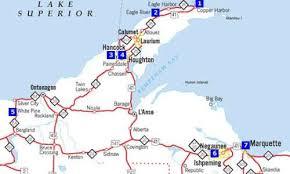 map of calumet michigan hancock michigan