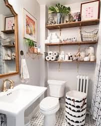 Bathroom Open Shelving Brighten Up A Bathroom Open Shelving Pastel And Gold