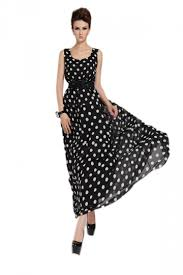 summer maxi dresses black white dots womens summer maxi dress casual maxi dresses