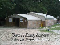 Cheap Barn Homes Turn A Cheap Carport Into An Awesome Barn Jpg