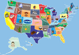 interactive color united states map united states map interactive detail color of usa with name and