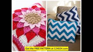 Free Cushion Crochet Patterns Crochet Pillow Cover Patterns Youtube