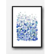 summer sale blue watercolor painting netherlands abstract