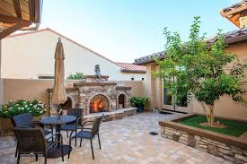 Building Stone Patio by 33 Stone Patio Ideas Pictures Designing Idea