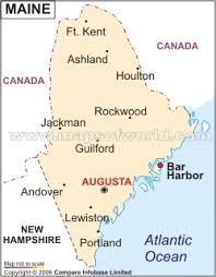 map of maine with cities map of maine america maps map pictures
