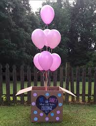 gender reveal balloons in a box 27 gender reveal party food ideas while gender reveal