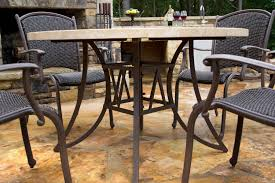 marquesas 5 piece all weather wicker and stone dining collection
