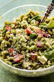 kale pesto mozzarella pasta salad sallys baking addiction