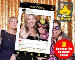 photo booth 40th birthday party photo booth prop digital file instagram