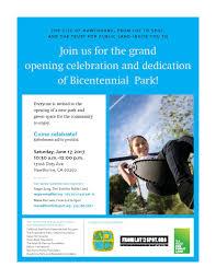 bicentennial park dedication u2014 hawthorne california