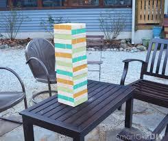 Backyard Jenga Set by Diy Giant Jenga Christmas Gift