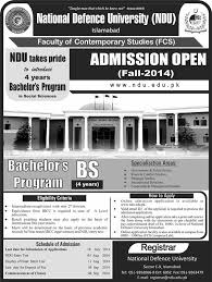 Ndu Attestation Letter admissions open 2014 in national defence ndu islamabad