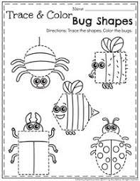 may preschool worksheets shapes worksheets color bug and