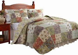 Jcpenney Quilted Bedspreads Amazon Com Greenland Home Blooming Prairie King Quilt Set Home