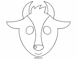 Goat Mask Coloring Page | goat mask