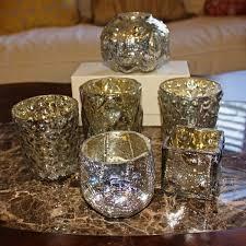mercury tea light holders gliderite 6 piece assorted vintage mercury glass tea light votive