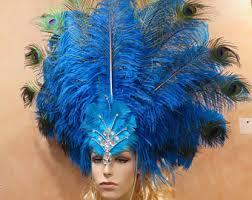 Las Vegas Showgirl Halloween Costume Vegas Headdress Etsy