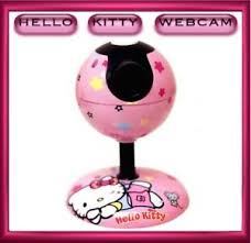 kitty usb pink webcam camera video microphone pc laptop