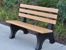 recycled plastic garden bench designs and colors modern photo at