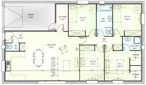 plan 4 chambres plain pied plan maison 4 chambres incroyable plan de maison plain pied 100m2