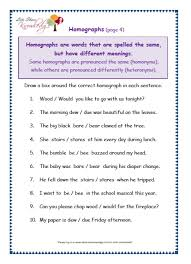 all worksheets homonyms worksheets for third grade printable