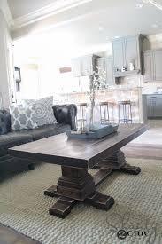 Pedestal Coffee Table Round Diy Pedestal Coffee Table Shanty 2 Chic