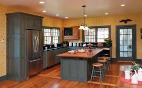 kitchen yellow kitchen cabinet storages with grey wall paint