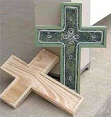 wooden craft crosses green celtic cross christian friends and gift