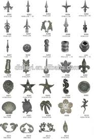ornamental wrought iron components for fence gate stair new style