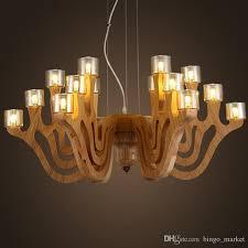 Wooden Pendant Lights Modern Pinecone Wooden Pendant Lights Vintage Hanging Wood