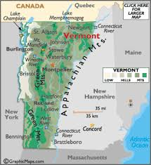 usa map vt vermont map geography of vermont map of vermont worldatlas