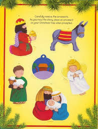 jesus was born book and 6 ornaments lori froeb