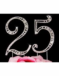 25th anniversary cake toppers wedding anniversary gifts advantagebridal