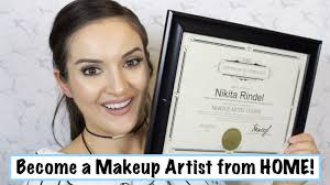 become a makeup artist from home