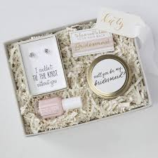 asking bridesmaid gifts bridesmaid gift box no 2 foxblossom co