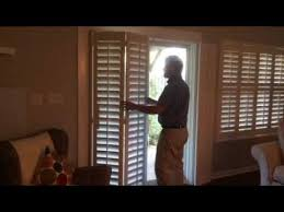 Plantation Shutters For Patio Doors Patio Door Plantation Shutters Youtube