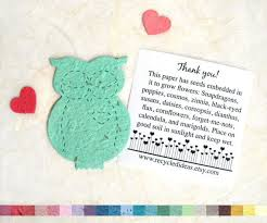 seed paper favors plantable seed paper owls baby shower favors flower seed