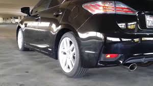 lexus ct200 hybrid aftermarket bolt on exhaust on lexus ct200h hybrid youtube