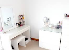 Small Vanity Table Ikea Updated Makeup Storage Ikea Malm Muji Couture