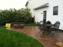 Stamped Patio Designs by Concrete Patio Designs With Fire Pit