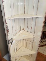 how to make bifold cabinet doors corner shelf from old door cut full size door in half or use small