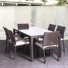wicker dining table with glass top resin wicker outdoor dining tables outdoor designs