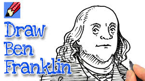 How To Draw Benjamin Franklin Real Easy For July 4th Youtube