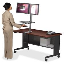Sit Stand Office Desk by Balt 90531 Up Rite Desk Dual Monitor Mount Sit Stand Workstation