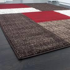 teppich 300x300 designer teppich modern kariert kurzflor teppich design meliert